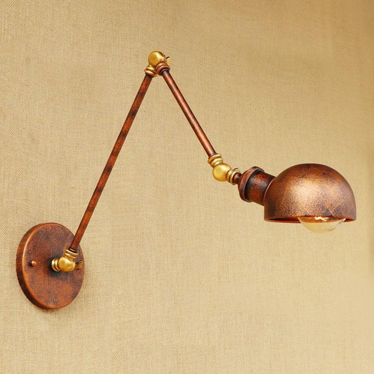Rust Loft-Stil Industrielle Wandleuchten Wandlampen Swing Long Arm - Innenbeleuchtung - Foto 6
