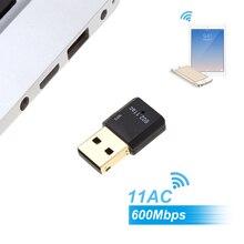 600Mbps 11AC USB 2.0 2.4G/5.8G Dual Band Wireless WiFi Adapter Receiver Wireless-N Network Card 802.11ac/a/b/g/n