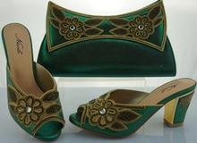 Italienischen Schuh-Und Taschensatz Für Party In Frauen Sandale Schuhe mit Steinen High Heels Mode African Schuh Und Zusammenpassender Beutel Set ME1105