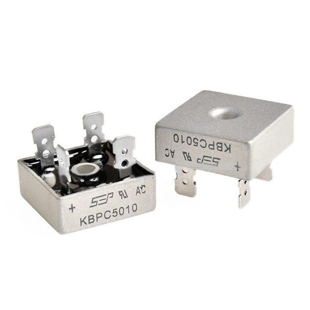 5pcs 10a 1000v Diode Bridge Rectifier Kbpc1010 In Rectifiers From Schottky Diodeelectronic Componentsrectifier Diodes Product On 2pcs Kbpc5010 50a Kbpc 5010 Power Electronica Componentes
