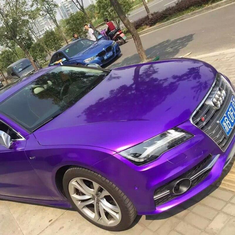 TAOTOP Top quality 152*100cm super gloss Purple High glossy metalic pearl car body vinyl car wrap Film car sticker GMP10-1