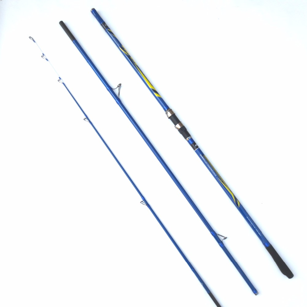 Free shipping bedford 3 section long cast surf rod for Shipping fishing rods
