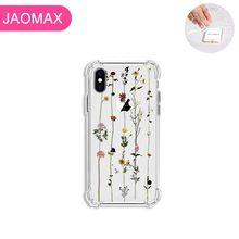 Jaomax רך יוקרה עמיד הלם פרח טלפון מקרה עבור iPhone 7 8 בתוספת X Xs מקסימום 6 6s בתוספת 5 5S SE Xr 11 יפה פרחוני כיסוי Fundas