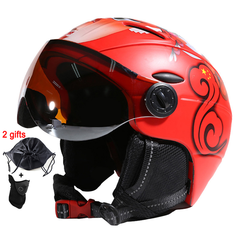 Лунные очки для лыжников шлем интегрально Формованный PC + EPS CE сертификат лыжный шлем для занятий спортом на открытом воздухе лыжный шлем для сноубордистов скейтбордистов