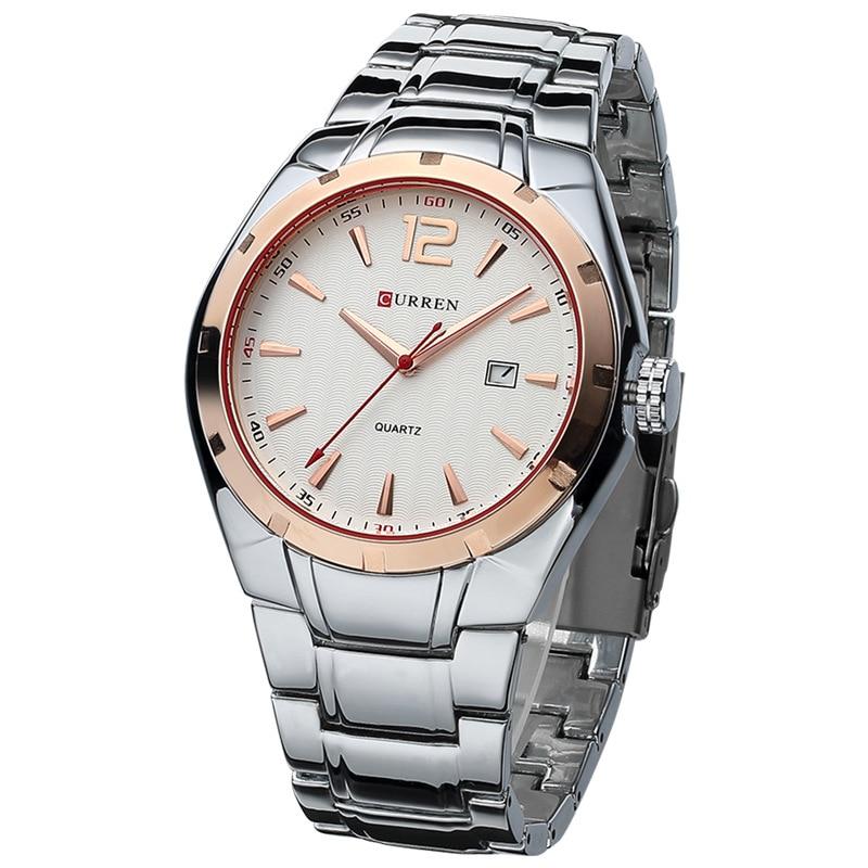 CURREN Fashion Business Quartz Watch Display Date Full Steel Sports Waterproof Wristwatch Hot Sale Saat Clock reloj hombre