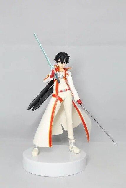 Anime Sword Art Online Kirito Hitam Putih Ver Kirigaya Kazuto PVC Action Figure Resin