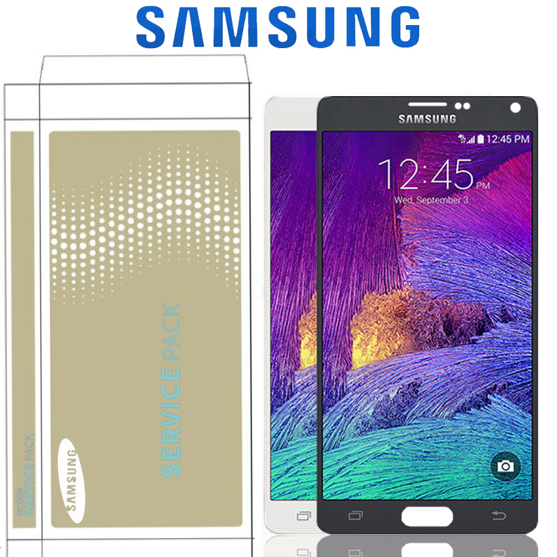 5.7'' Original SUPER AMOLED LCD For Samsung Galaxy Note 4 N910 N910A N910F Note4 Display With Touch Screen Digitizer Replacement