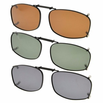 41bd628933800 C79-3pcs-mix eyekepper gris marrón G15 lente 3-pack polarizadas Clip-on  Gafas de sol 50x31mm