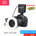 Aputure Amaran HC100 LED Macro Ringflash Light/led Ring Light for Canon EOS 5D Mark II III 5D2 7D 6D 70D 700D 650D 60D 600D
