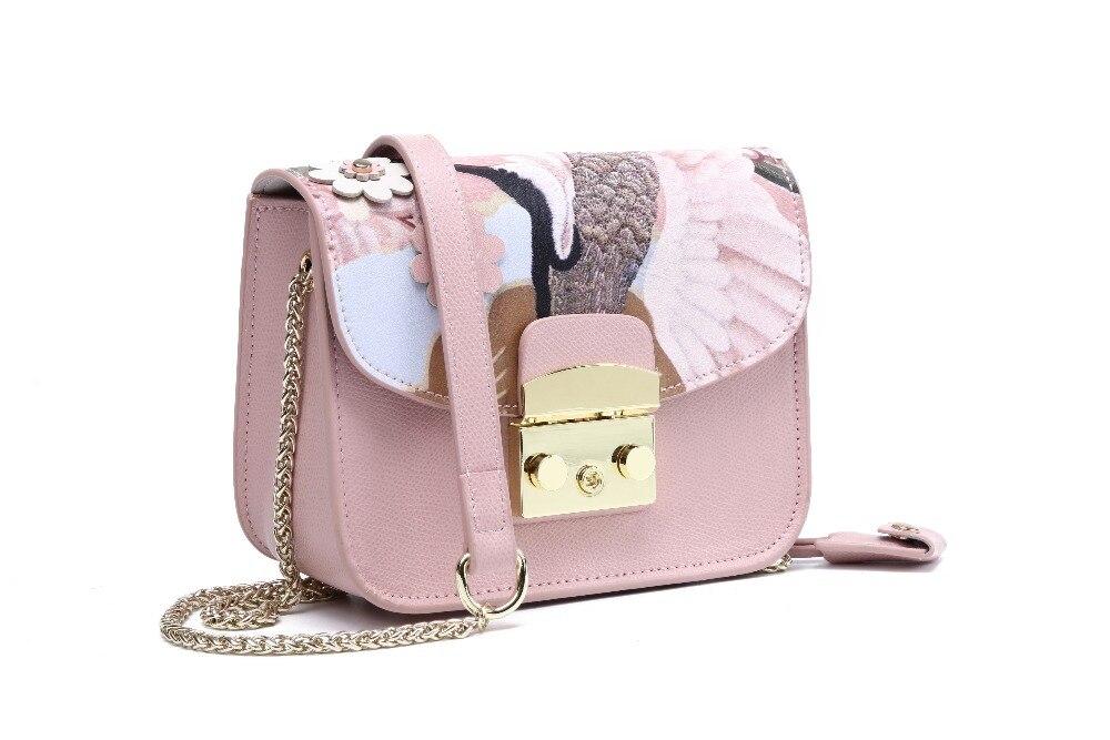 Мода 2017 г. Для женщин из натуральной кожи сумка мини Flap crossbody сумки женские маленькие клатчи женский цепь сумка для девочек
