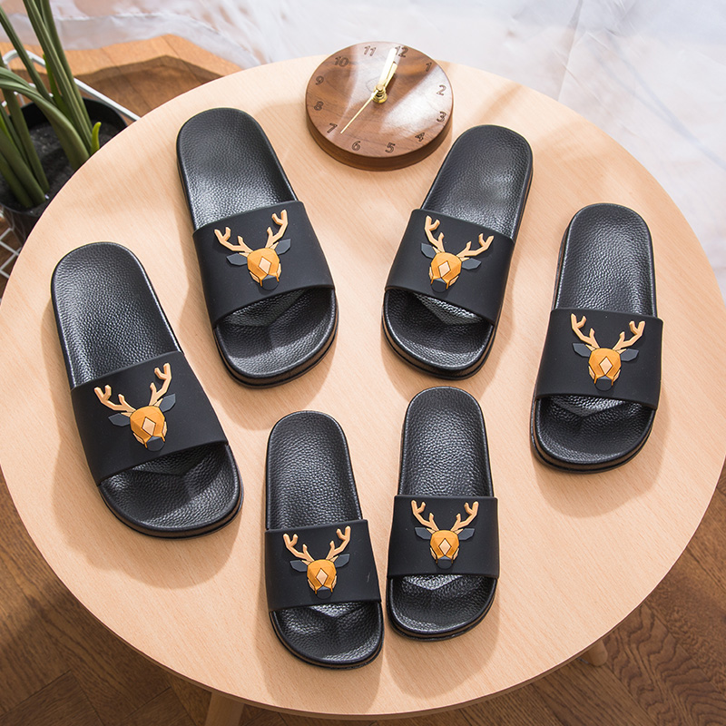 Women 5d Cartoon Deer Slide Sandals Summer Slippers Slides Flats Beach Slides Home Slippers Slip On Bothe Sandals Women Shoes 2