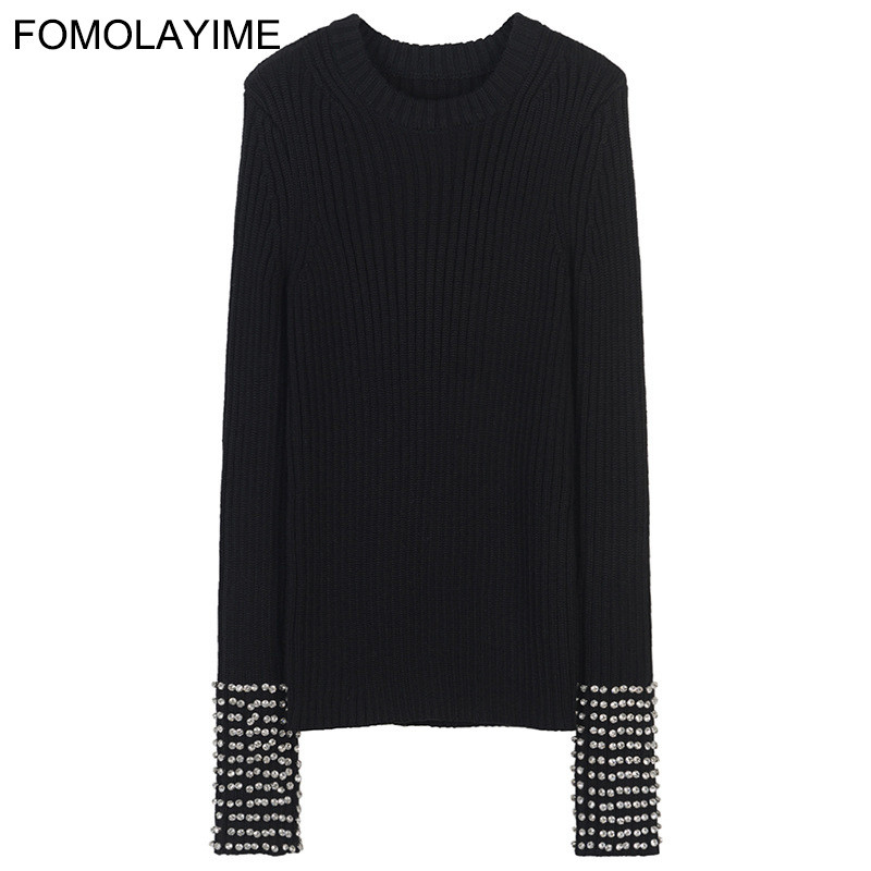 O Fomolayime Cou Hiver Long De Automne Chandails Femmes Luxe 2018 Pulloer Chandail TrT0xw