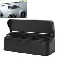 Car Orginazer Universal Black Car Styling Car Coin Holder Plastic Coin Case Storage Box Holder Container