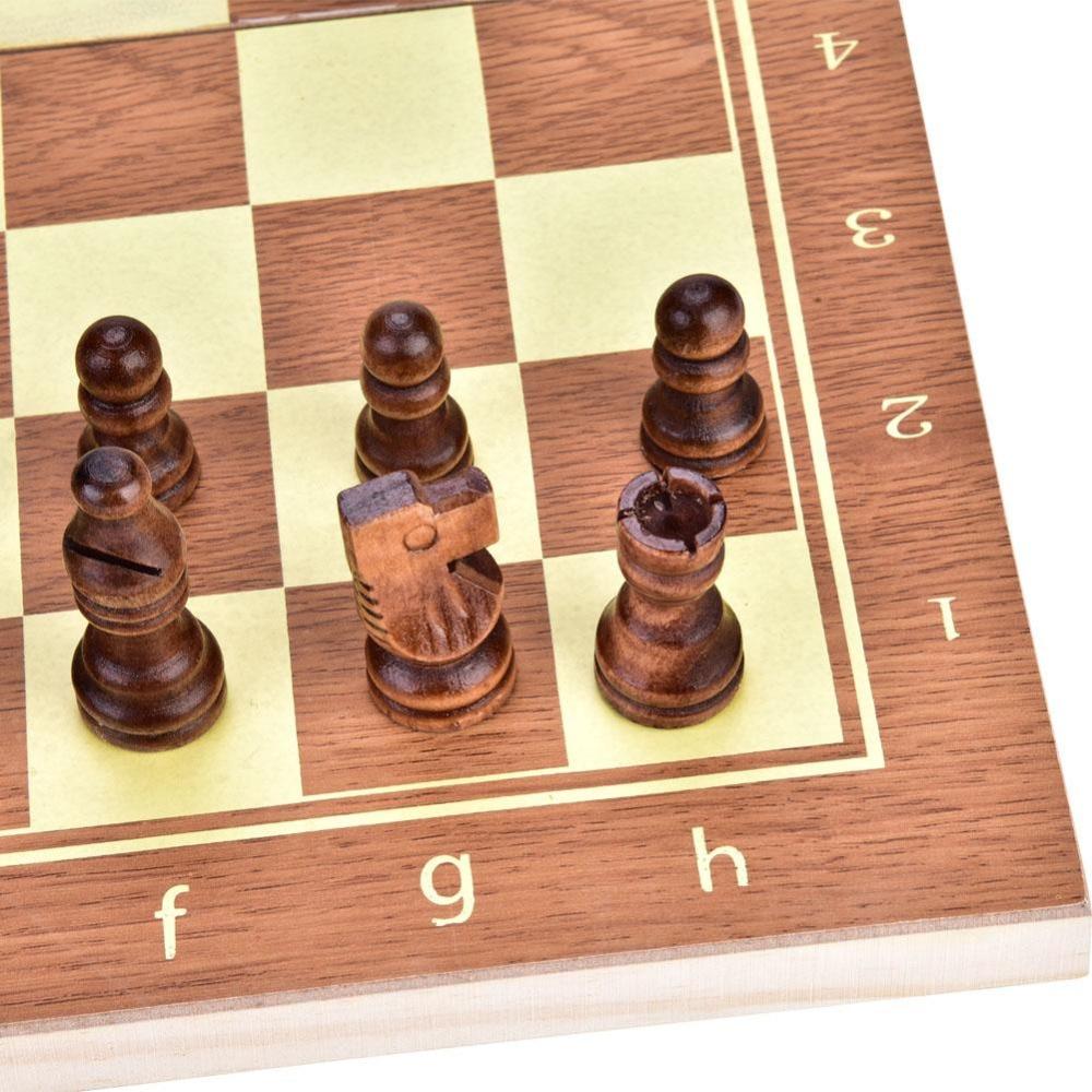 🛒 1Set Portable Foldable Wood Chess board Set Folding