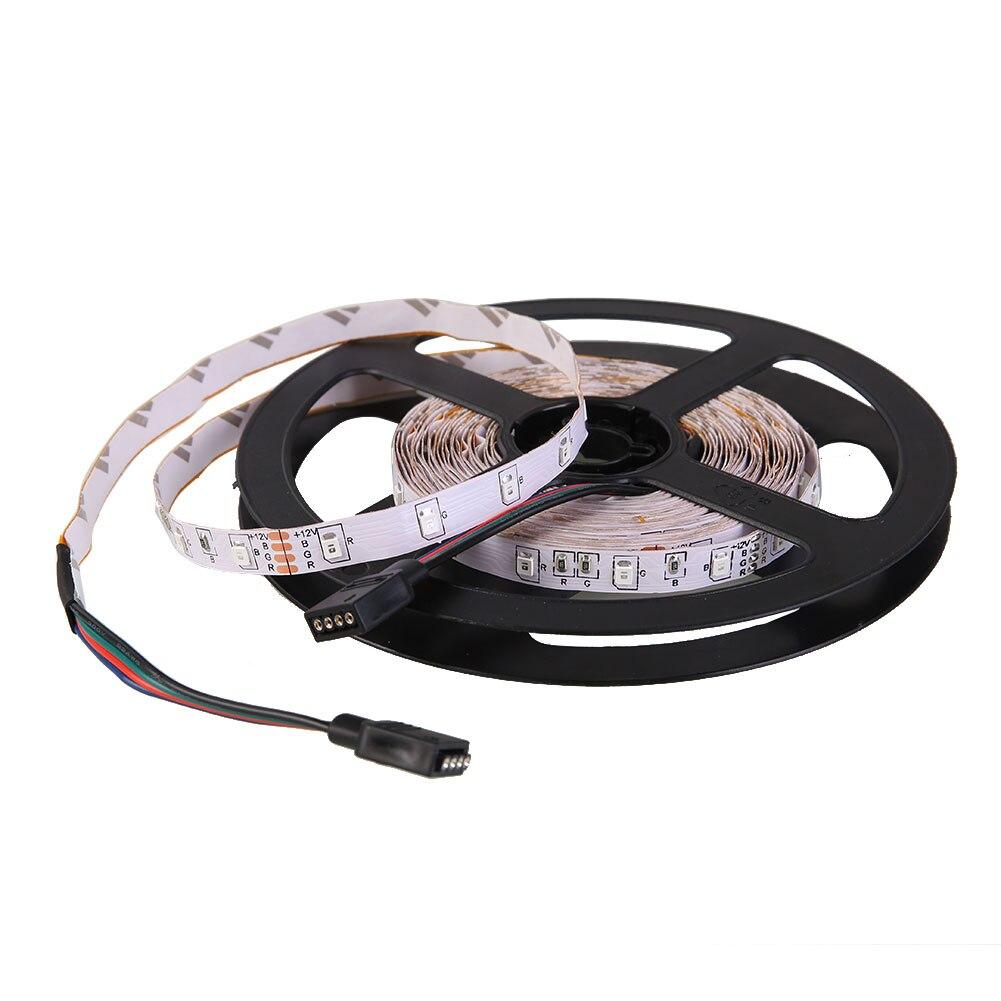 5 м 6 Вт LED 5050 RGB лампы строку полосы света 24 клавиатур пульт дистанционного ЕС Plug яркий