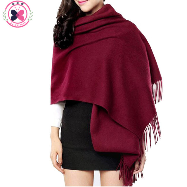 200cm*70cm Women Winter Stole Solid Color Scarves Tippet Wraps Brand Ladies Scarf Women Classic Neckerchief Shawls Scarves