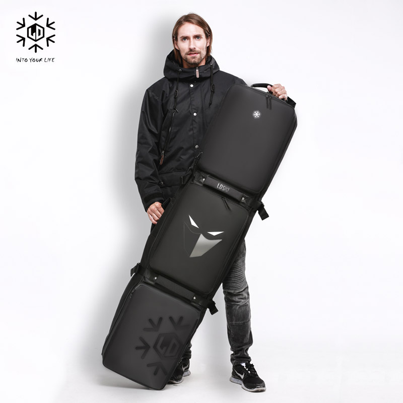 Image 2 - Snowboard Ski Roller Bag With Wheels 158cm 168cm 178 Large Capacity Waterproof Wearable Skying Bags Ski Equipment Bolso Patines-in Skiing Bags from Sports & Entertainment