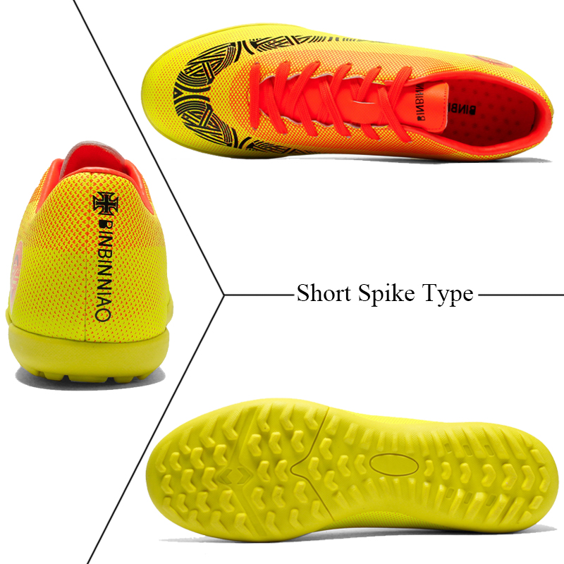 Outdoor Soccer Cleats Shoes Football Boots Training Sport Sneakers Shoes Plus Size 35 45 Long Spikes Short Spikes Soccer Sneaker in Soccer Shoes from Sports Entertainment