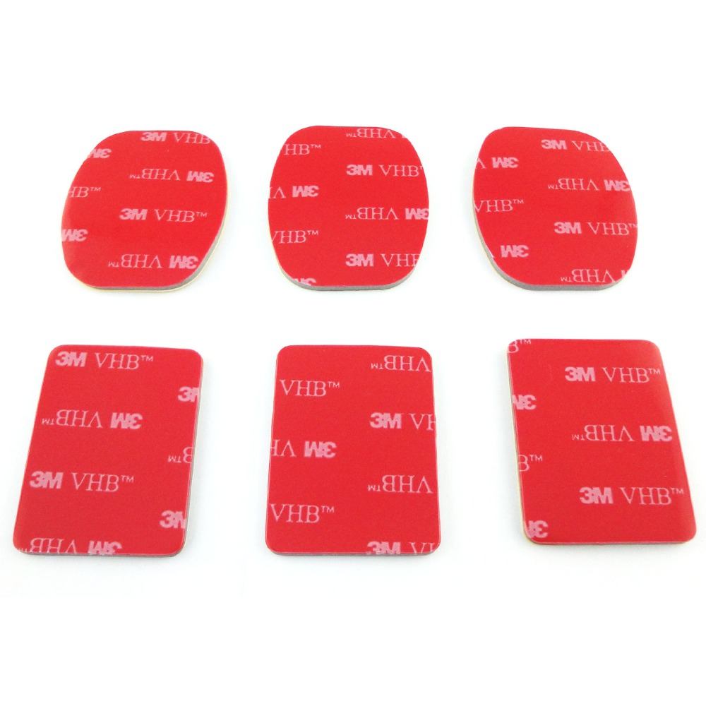 30pcs 3M Red Adhesive Sticker Double Faced Adhesive Tape For Gopro hero 5 4 3 2 For SJCAM SJ5000 SJ6 SJ7 SJ4000 Eken xiaomi yi in Sports Camcorder Cases from Consumer Electronics