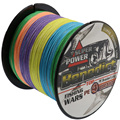 super strong rainbow 500M braided wires 100% pe fiber fishing line spectra multi-color 4 strands 6lb-80LB multifilament line