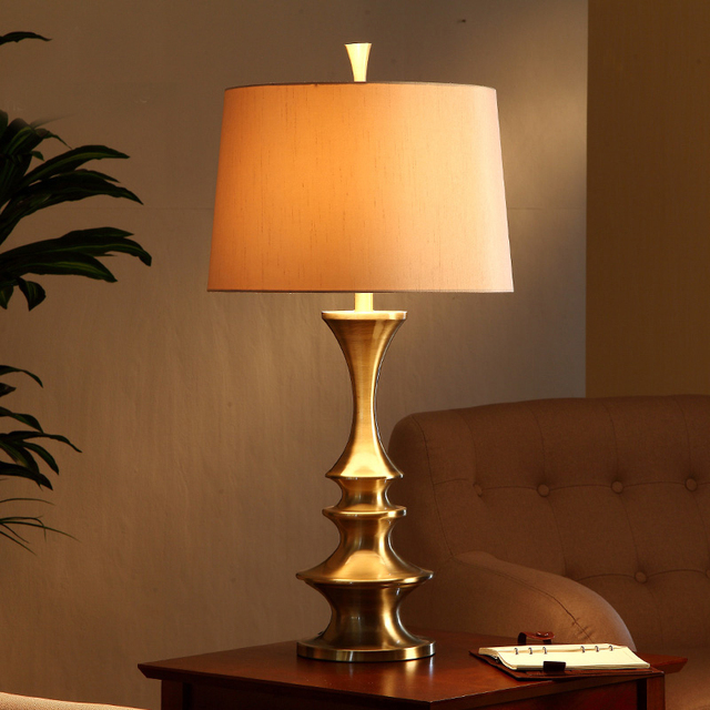 American country European retro living room table lamp study ...