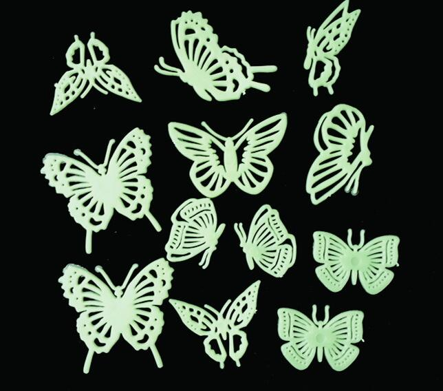 Детские подарки дома три мерных наклейки световой патч люминесцентные пасты 12 Бабочка детский сад детей