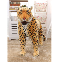 huge new creative simulation leopard toy standing leopard doll gift about 110cm 87