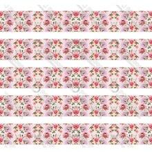 New design rose printed grosgrain ribbon 50 yards gift wrapping diy bows christmas wedding derections ribbons