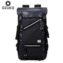 OZUKO 2018 Men Fashion Backpack Casual Travel Large Capacity Backpacks High Quality Waterproof Korean Style Teenagers SchoolBag
