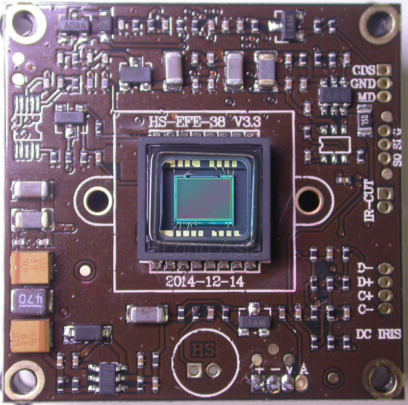 """imágenes para Effio-e 1/3 """"sony exview had ccd sensor de imagen icx672 icx673 + cxd4140 módulo de cámara cctv junta"""