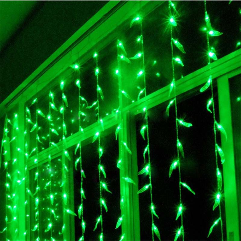 3*2 м 156 светодиоды LED Праздничное освещение Огни Рождество Шторы Задний план гирлянды Лампы для мотоциклов Феи для свадьбы Новый год Luminaria Де...