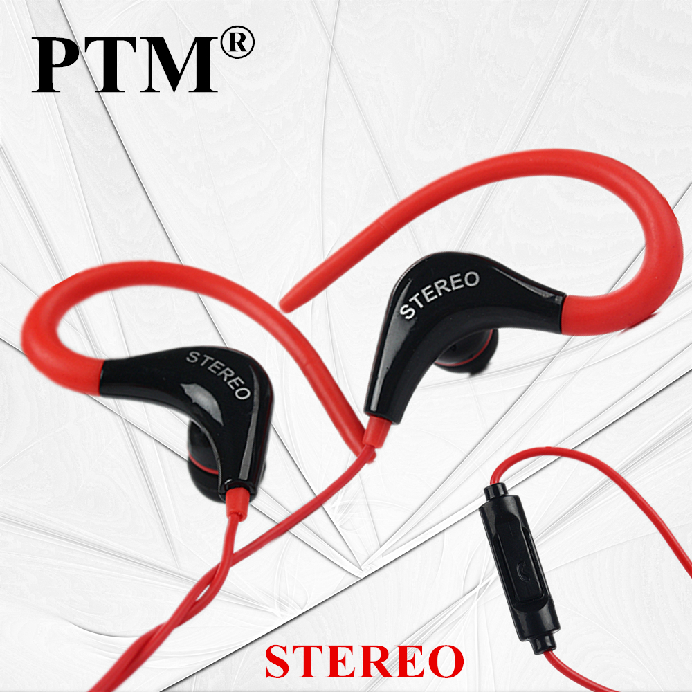 купить PTM 3.5mm In ear Earphone Headphones Colorful Stereo Sport Hifi Earbuds with microphone for smart phone MP3 MP4 Player дешево