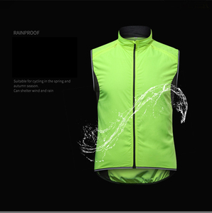Image 3 - 2019 New Mens Cycling Vest Breathable Reflective Windbreaker Sleeveless Cycling Windproof Jersey Ropa Ciclismo Windstopper