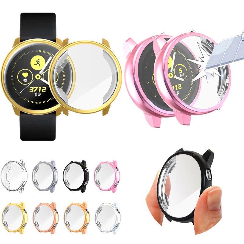 Anti-Scratch Screen Protector Case for Samsung Galaxy Watch Active Soft Tpu Bumper Accessories for samsung galaxy watch 40mm