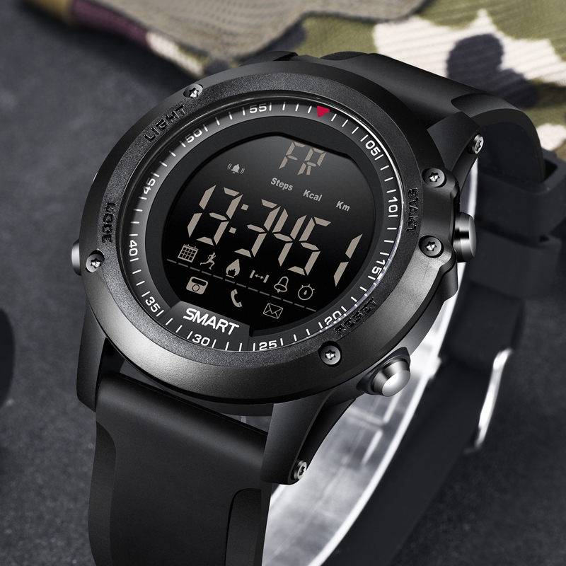 BANGWEI Smart Watch Outdoor Sports Digital Electronic Wrist Watch Men Bluetooth Pedometer Information Call Shock Reminder+Box bangwei men women smart watch information vibration reminder sedentary reminder music player fashion fitness smart digital watch