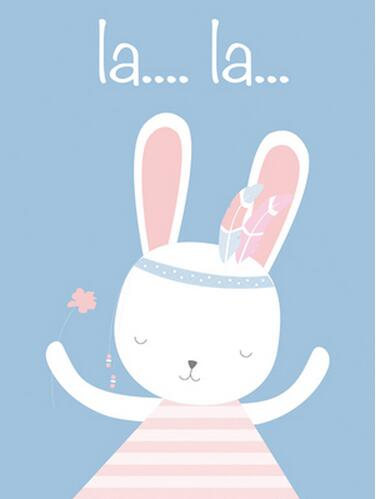 Nursery Wall Art Prints Cartoon Rabbit Animals Canvas Painting Wall Picture Nordic Baby Girl Bedroom Decoration Poster Art in Painting Calligraphy from Home Garden