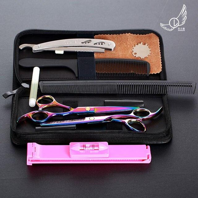 6 inch חיתוך דליל סטיילינג כלי שיער סלון נירוסטה מספריים שיער מספריים מקצועי מספרה מספריים