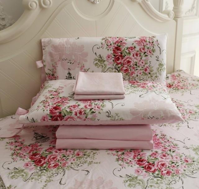 Fadfay 100 Cotton Bedding Set 4pcs Rose Floral Duvet
