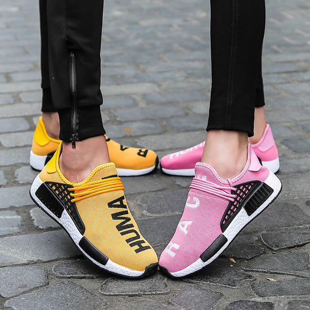 wheresroad Human Race Yellow Casual Shoes Men's Comfortable Fashion Sneakers Light Summer Spring Man Ultra Boosts size39-47