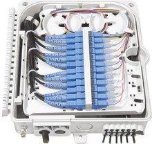 FTTH 12 แกนเส้นใยการสิ้นสุดกล่อง 12 พอร์ต 12 ช่อง Splitter กล่องในร่มกลางแจ้งเส้นใย Splitter กล่อง ABS