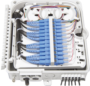 Image 1 - FTTH 12 แกนเส้นใยการสิ้นสุดกล่อง 12 พอร์ต 12 ช่อง Splitter กล่องในร่มกลางแจ้งเส้นใย Splitter กล่อง ABS