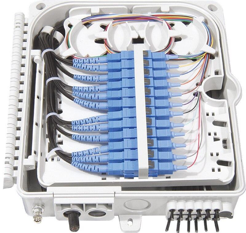 FTTH 12 core in fibra di Box di Terminazione 12 porta 12 canali  Splitter Box indoor outdoor fibra Splitter Box ABS-in Attrezzature per  fibra ottica da Cellulari e telecomunicazioni su