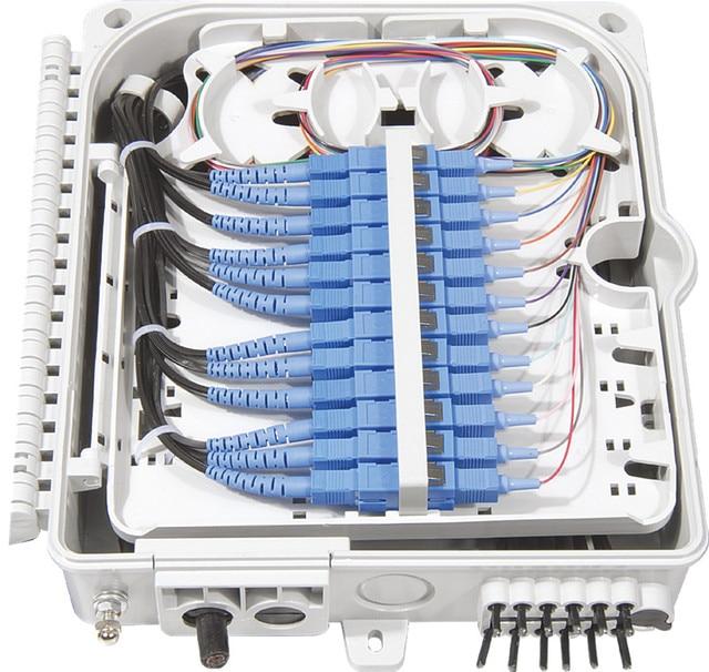 FTTH 12 kerne faser Termination Box 12 port 12 kanal Splitter Box indoor outdoor faser Splitter Box ABS