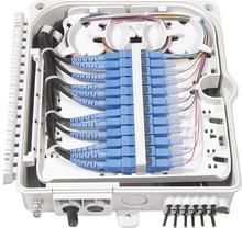 FTTH 12 rdzeni światłowodowe terminator 12 port 12 kanałowy Splitter Box wewnątrz na zewnątrz rozdzielacz światłowodowy Box ABS