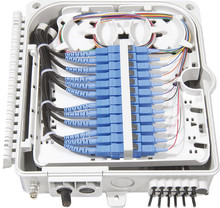 Ftth 12 núcleos caixa de terminação de fibra 12 portas 12 canais divisor caixa interior ao ar livre fibra divisor abs