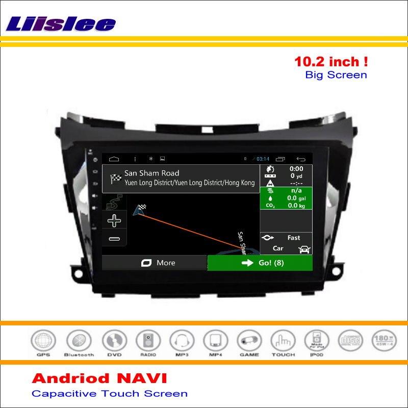 Liislee voiture Android GPS NAVI système de Navigation pour Nissan Murano Z52 2015 ~ 2016 autoradio Audio vidéo multimédia (pas de lecteur DVD