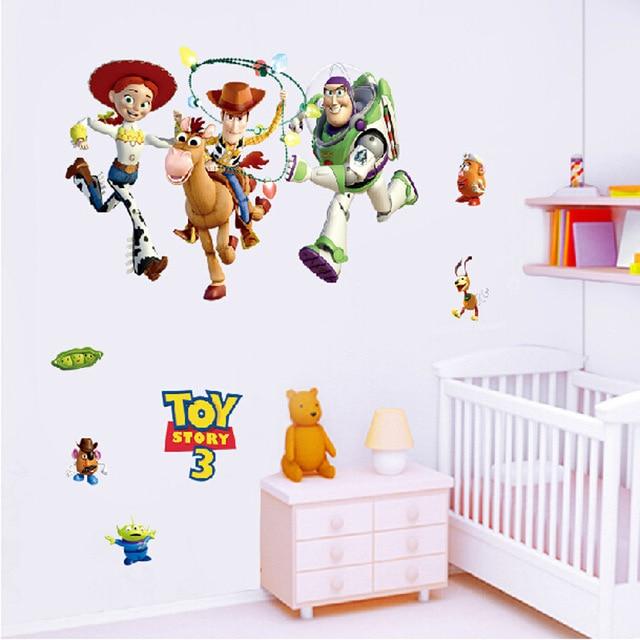 3D Bande Dessinée Toy Story 3 Stickers Muraux Décoration Chambre D ...