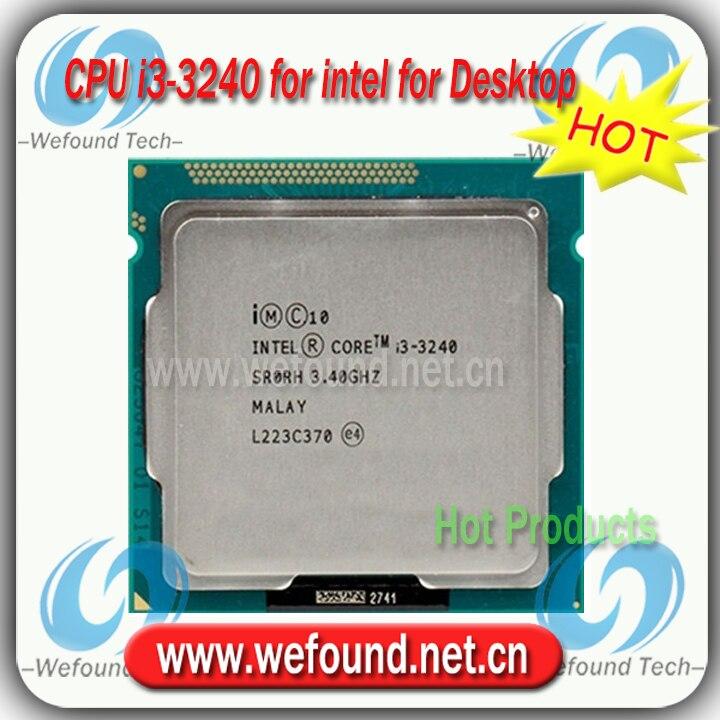 ФОТО Original for Intel Core i3 3240 Processor 3.4GHz /3MB Cache/Dual Core /Socket LGA 1155 / Qual Core /Desktop I3-3240 CPU