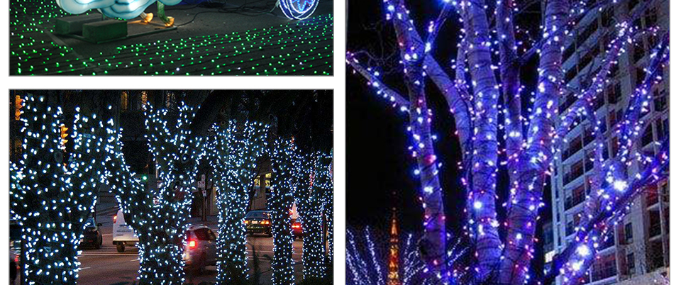 Peach Flower LED Solar Lamp Fairy String Light Outdoor Decoration Holiday Party Lights For Garden Christmas Tree Lawn Landscape (19)