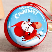 Baroque Christmas Mini Tin Box Sealed Jar Packing Boxes Xmas Candy Box Small Storage Cans Coin Earrings Headphones Gift Box